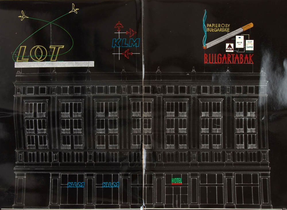 "Drawings and projects of neons from the archives of the advertising company ""Reklama"", photo: courtesy of the Artist's Archive of the Museum of Modern Art in Warsaw"