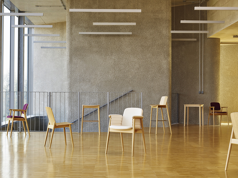 Prop family chairs designed for Paged by Nikodem Szpunar and Kamila Niedzwiedzka (Szpunar Studio), 2014, photo: Ernest Wińczyk