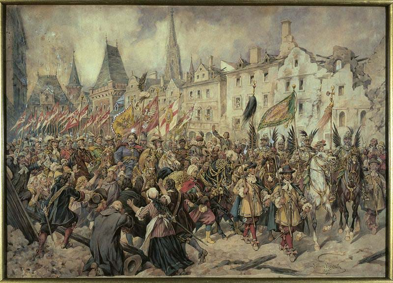John III Sobieski entering Vienna; 1897; watercolour; paper; 72 x 101 cm, photo: Ligier Piotr/National Museum in Warsaw