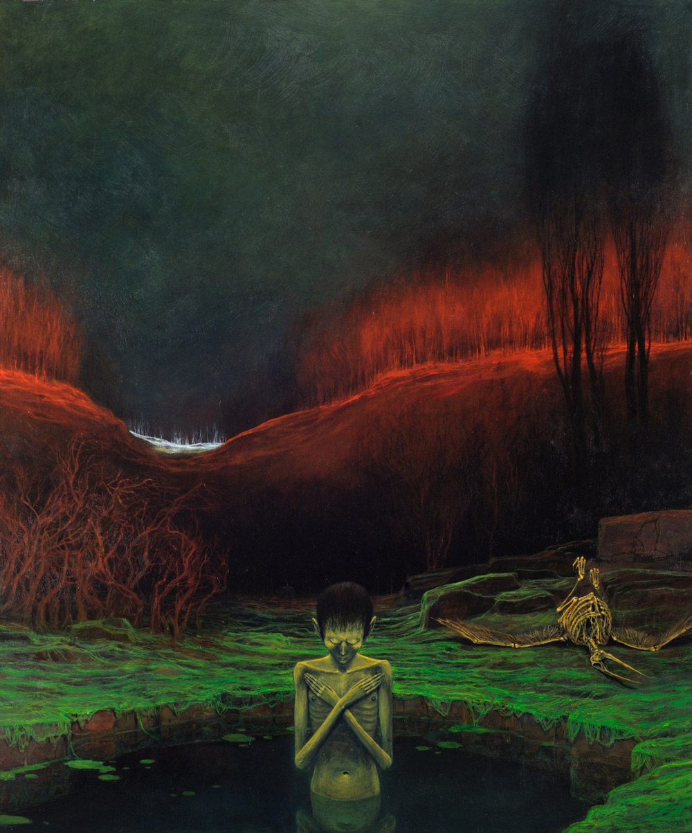 Zdzisław Beksiński, Untitled,oil on fibreboard, photo: courtesy of the Gallery of Zdzisław Beksiński in Historical Museum in Sanok