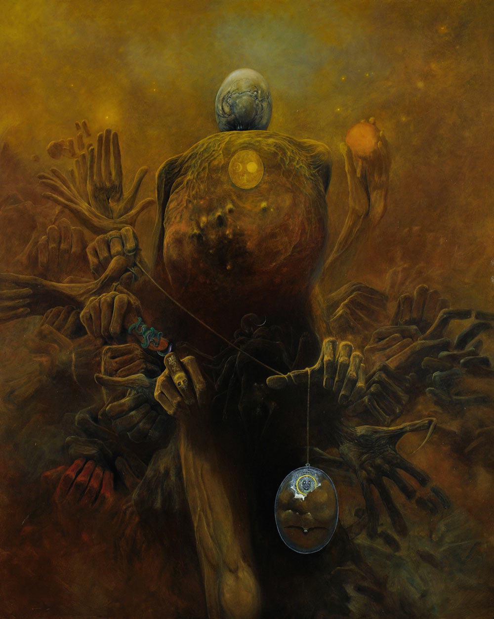 Zdzisław Beksiński, Untitled, oil on fibreboard, photo: courtesy of the Gallery of Zdzisław Beksiński in Historical Museum in Sanok