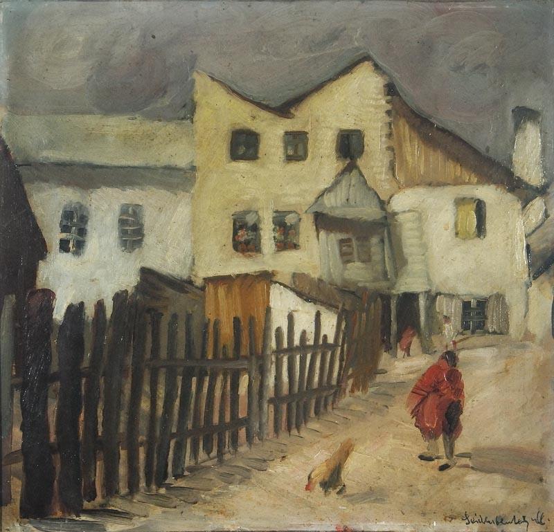 Menasze Seidenbeutel, Zaułek w Kazimierzu nad Wisłą, fot. dzięki uprzejmości ŻIH