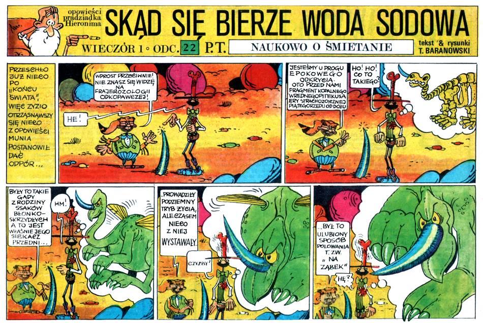 """Tadeusz Baranowski, """"Skąd się bierze woda sodowa"""", plansza z komiksu, fot. Culture.pl"""