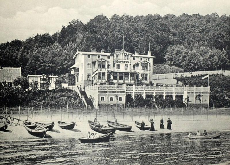 """Dom Zdrojowy w Orłowie, źródło: """"Ostseebad Zoppot. Die Nordische Riviera"""", Sopot 1922, s. 15"""