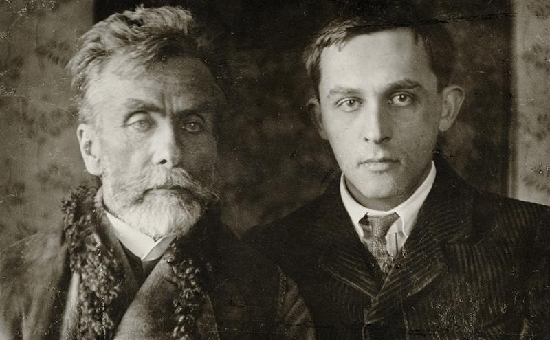 Stanisław Witkiewicz z synem w Lovranie, ok 1913