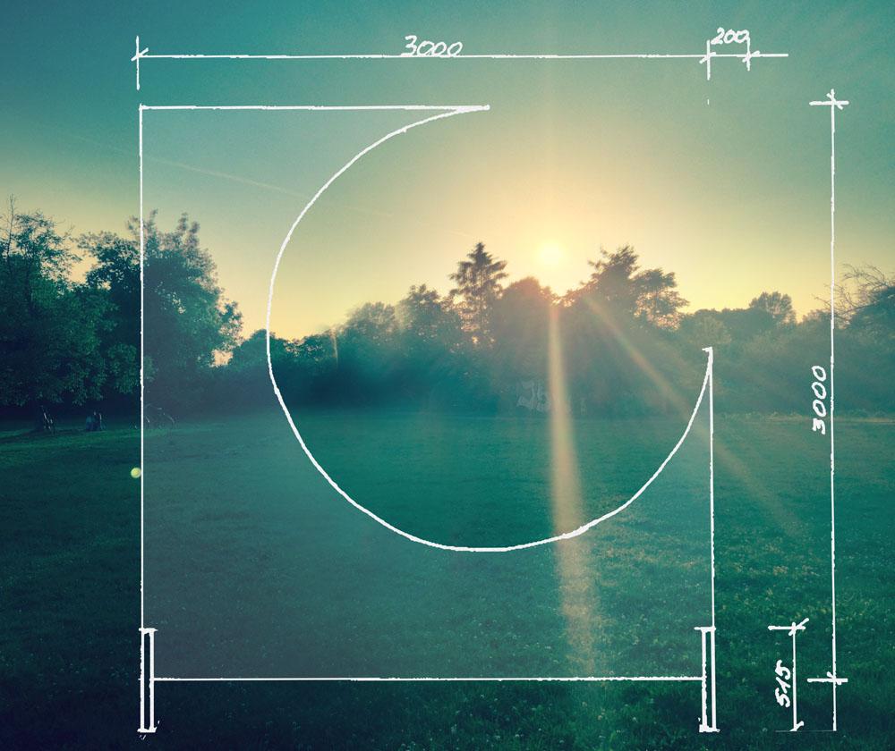 """Mikolaj Moskal, """"Sunrise-Sunset"""", wizualizacja rzeźby, 2014, Galeria Starter, fot. K. Iwańska / WGW"""