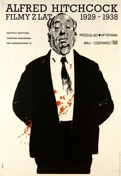Waldemar Świerzy, Alfred Hitchcock, courtesy of Poster's Gallery BUW