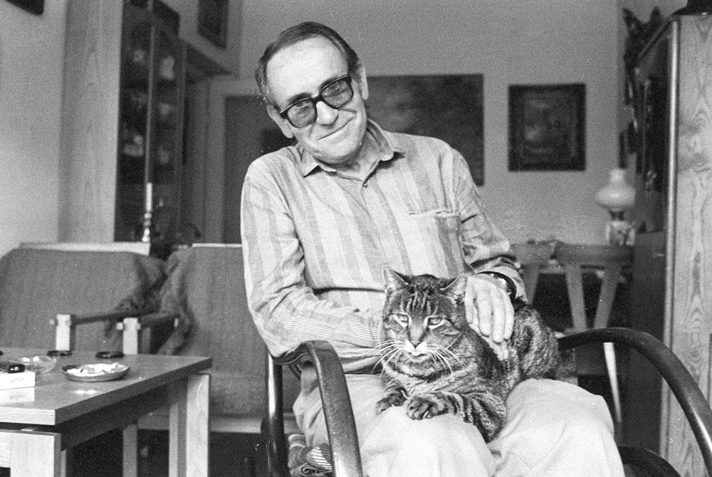 Tadeusz Konwicki, 1986, Warszawa, fot. Sławek Biegańsk