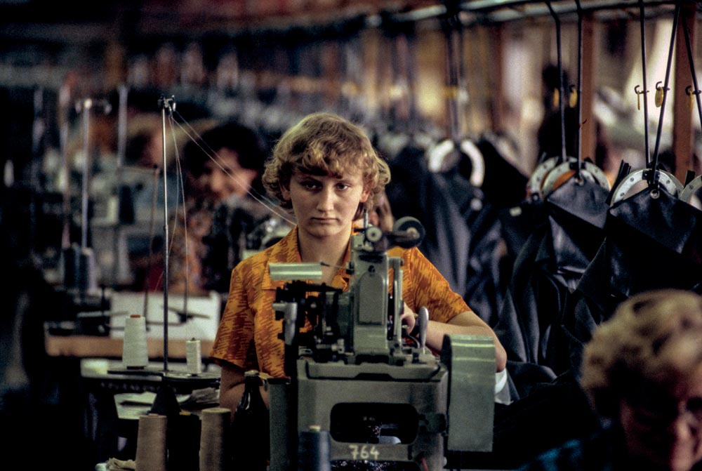 Chris Niedenthal, Kraków 1982. Vistula clothing factory, photo: press material