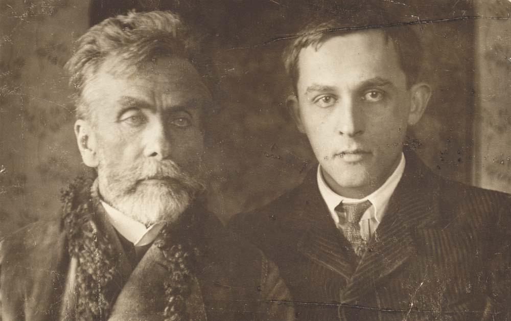 Stanisław Ignacy Witkiewicz (Witkacy) z ojcem, fot. dzięki uprzejmości Biblioteki Muzeum Tatrzańskiego w Zakopanem
