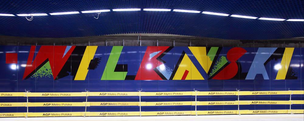 The Dworzec Wileński station (II metro line in Wrasaw) designed by Wojciech Fangor, photo: Jacek Łagowski / Forum