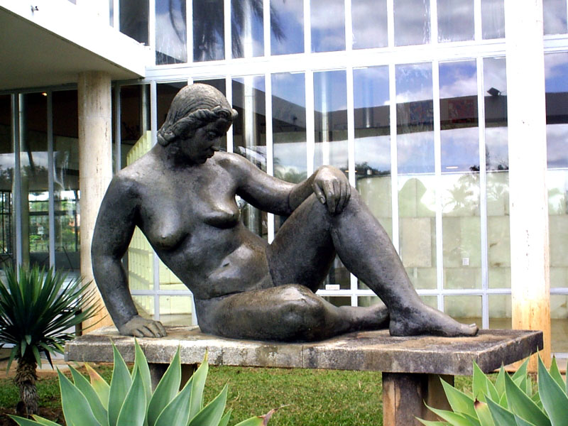 "August Zamoyski, ""Nu"", 1943, Museum of Modern Art, Pampulha, Belo Horizonte, Brazil, fot. Eduardo Coutinho"