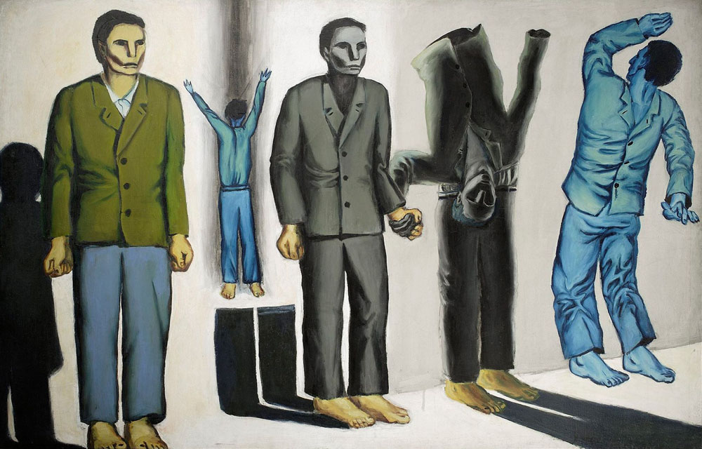 Execution VIII (surrealist) by Andrzej Wróblewski, 1949, oil on canvas, 130 x 199 cm, from the collection of the National Museum in Warsaw, photo: MNW