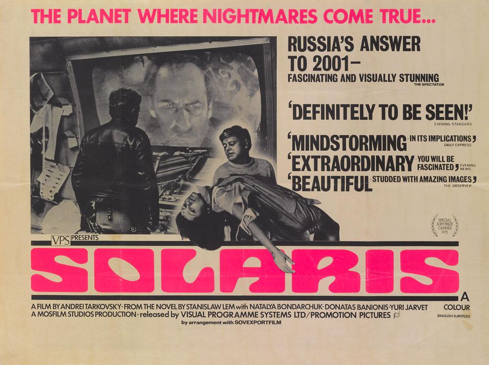 Poster for Andrei Tarkovsky's 1972 science-fiction film Solaris based on Stanisław Lem's novel, photo: Getty Images