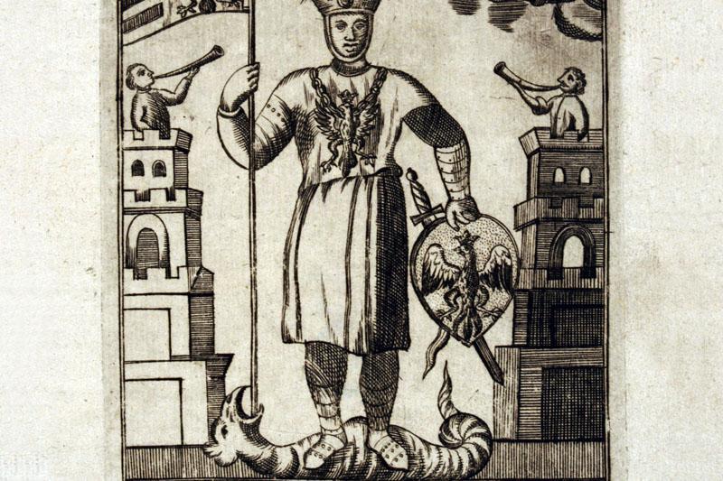 Пшемыслав Погробовец или Пшемысл II (Przemysław Pogrobowiec), гравюра 1730 года, фото: Национальная библиотека, Polona.pl