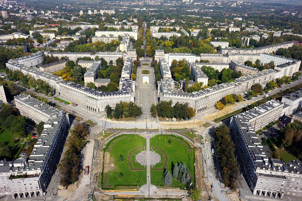 4.A view showing the urbanistic layout of Nowa Huta, photo: Piotr Tomaszewski/wikimedia.org