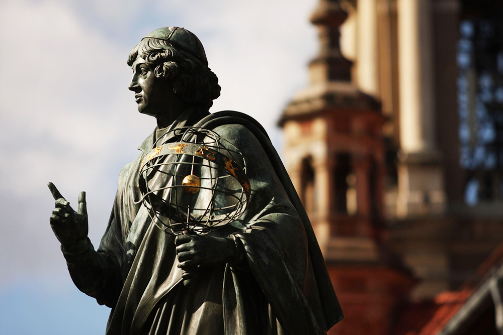 The Copernicus Statue in the middle of Toruń, photo: Adam Wysocki/East News