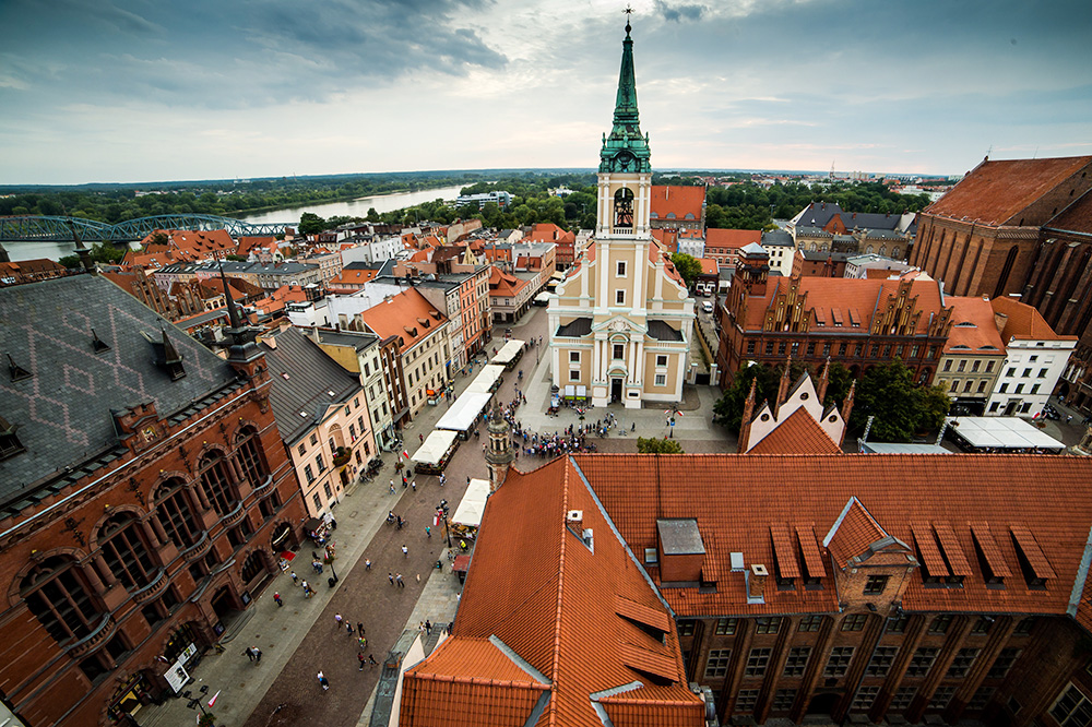 Panorama over Toruń showing the old town hall, photo: Tytus Żmijewski /PAP