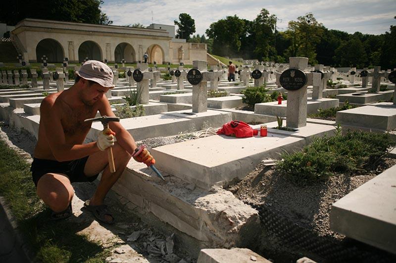 Cmentarz Orląt Lwowskich,  Ukraina, fot. Albert Zawada / AG