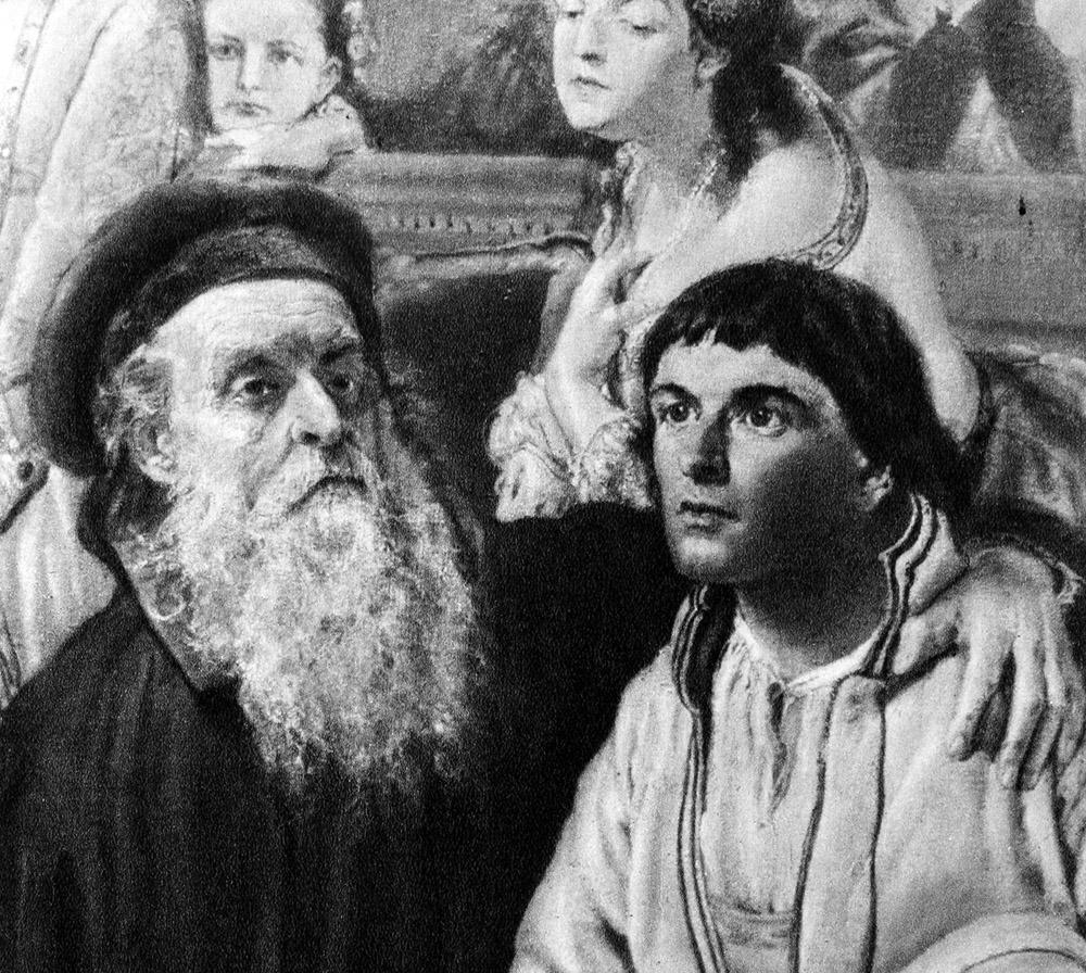 Andrzej Frycz Modrzewski, a fragment of Jan Matejko's painting Union of Lublin, 1869, reproduction by Piotr Mecik/Forum