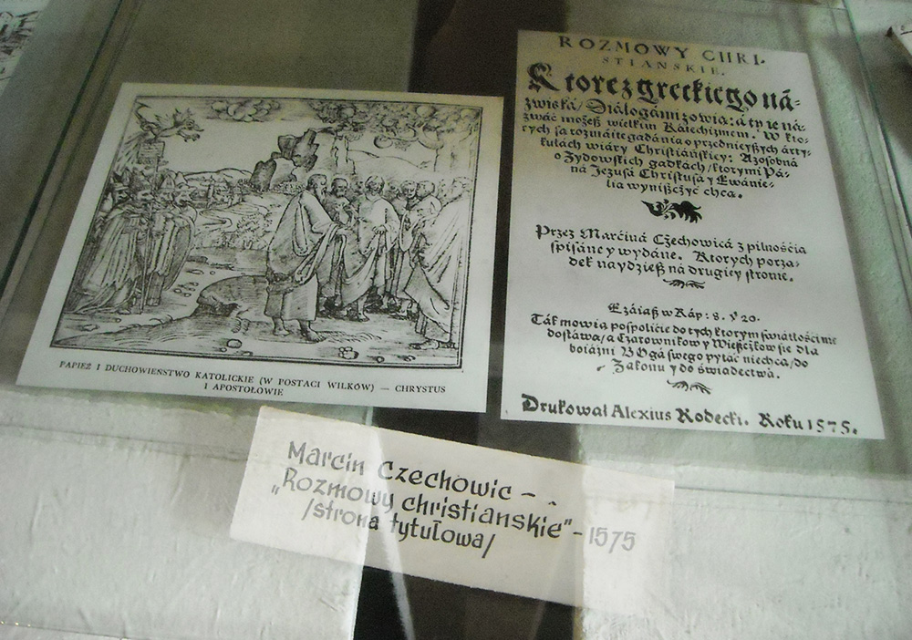 Title page of Rozmowy Christiańskie, collections of Muzeum Regionalne in Pińczów, photo: Wikipedia
