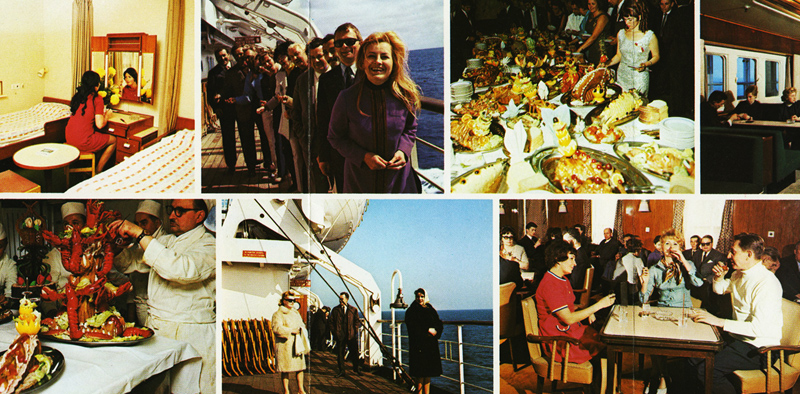 1975 Polish Ocean Lines advertising brochure, kept by Anna and Andrzej, photo: family archive
