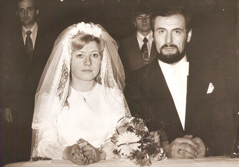 Anna and Andrzej's wedding ceremony, 28 Feb 1976, photo: family archive