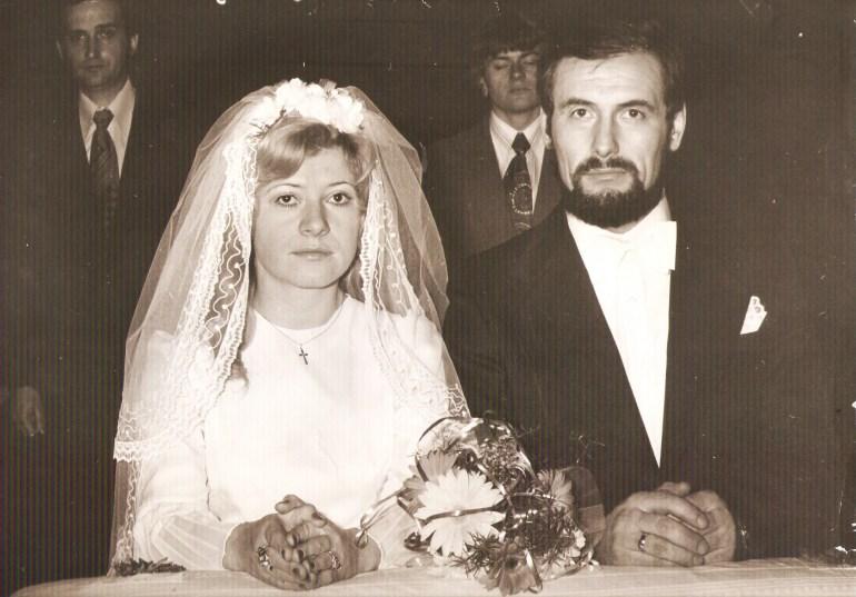 Anna and Andrzej's wedding ceremony, 28 Feb 1976, photo: family archive