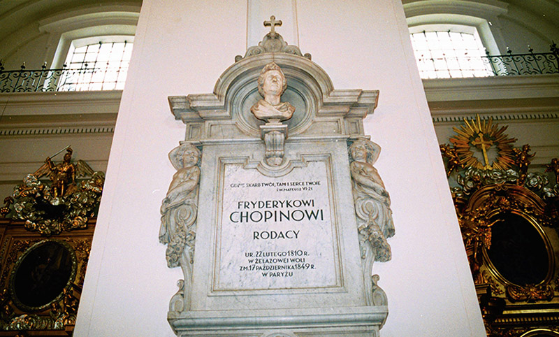 The epitaph holding the heart of Fryderyk Chopin, Church of the Holy Cross in Warsaw, photo: Sławomir Kamiński / AG