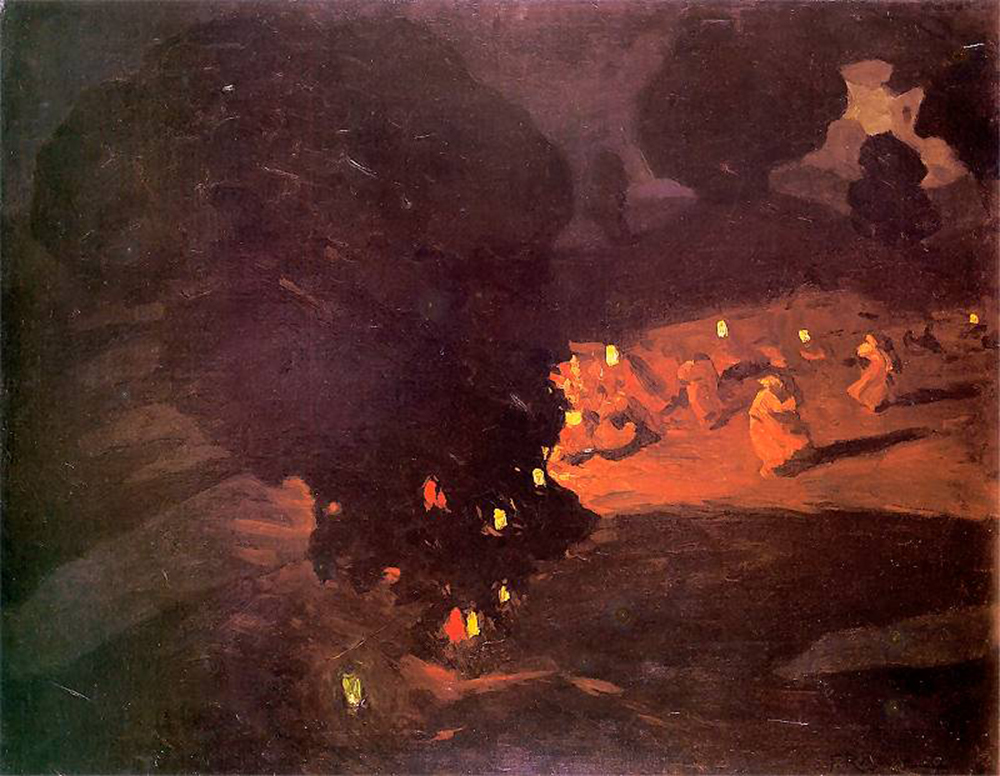 Sobótki by Ferdynand Ruszczyc, 1898, oil on canvas, 72 x 92.5 cm, photo: Muzeum Częstochowskie in Częstochowa