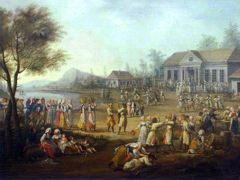 Dożynki by Michał Stachowicz, 1821, photo: National Museum in Warsaw