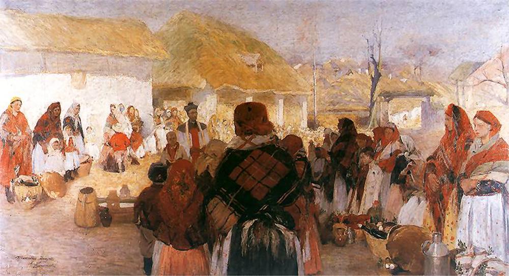 Święcone w Bronowicach by Włodzimierz Tetmajer, 1897, photo: National Museum in Kraków