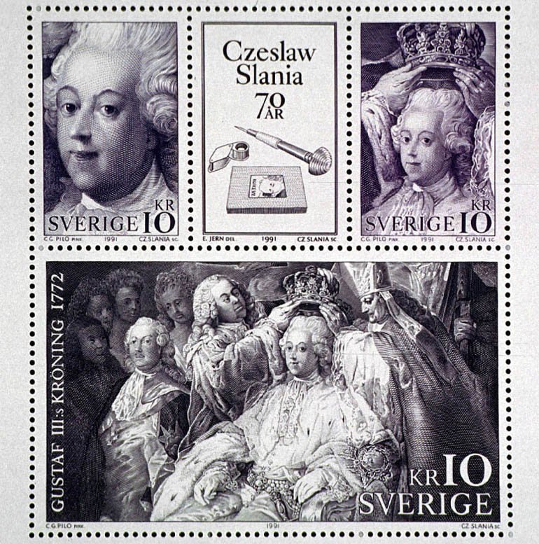 Postage stamps issued on the occasion of the 70th anniversary of Czesław Słania's works, photo: Woody Ochnio/Forum