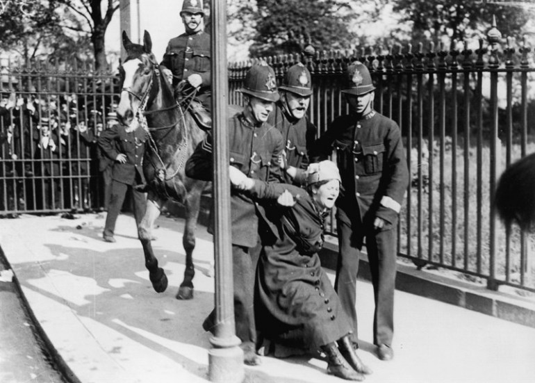 British suffragettes in 1913. Photo: AKG / East News