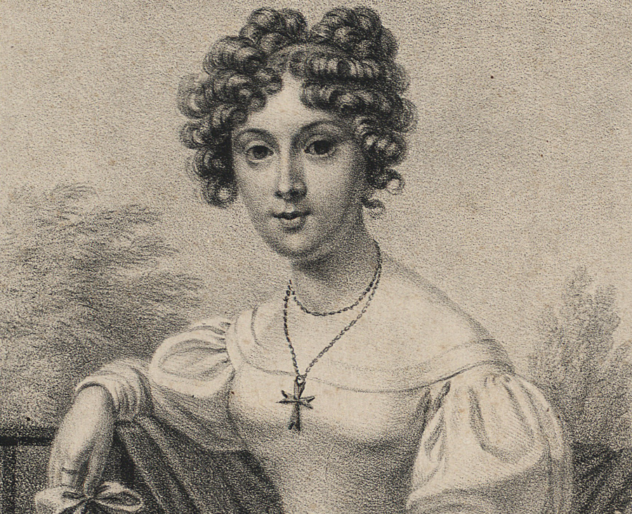 Portret Klementyny z Tańskich Hoffmanowe, 1834, fot.  fot. POLONA / www.polona.pl