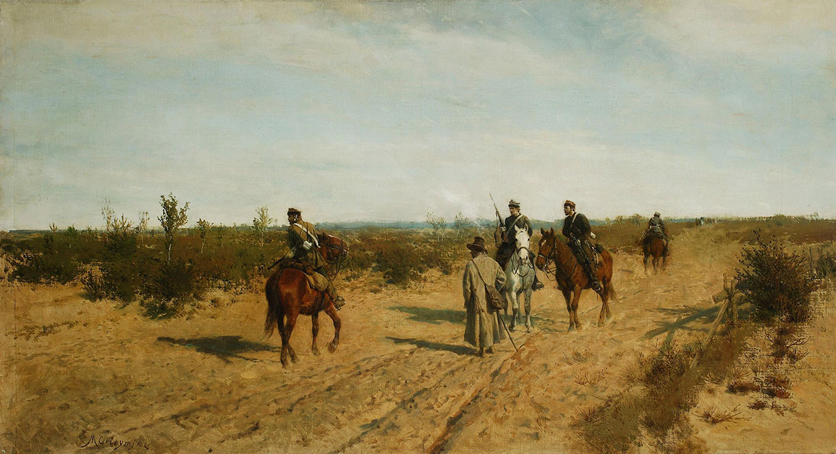 Insurgent Patrol by Maksymilian Gierymski, photo: National Museum in Warsaw