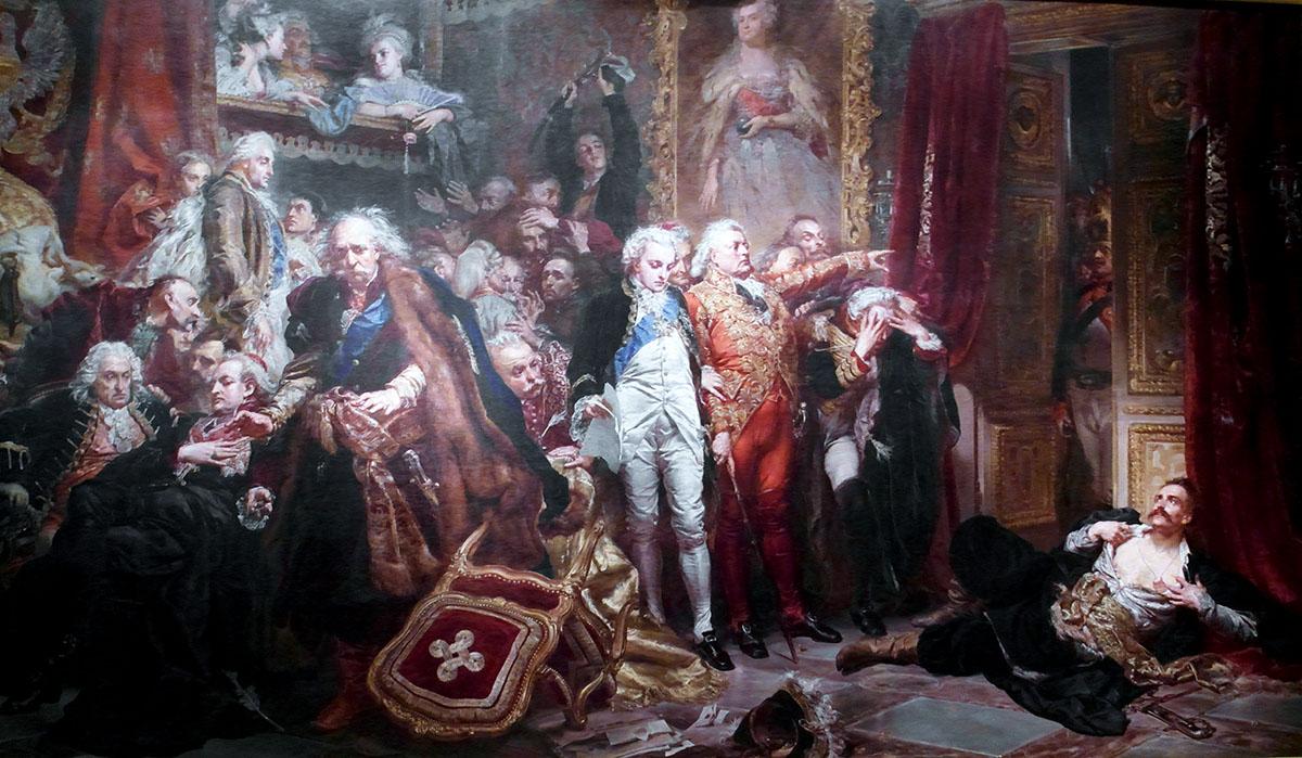 Rejtan: The Fall of Poland by Jan Matejko, photo: Maciej Szczepańczyk / Royal Castle in Warsaw