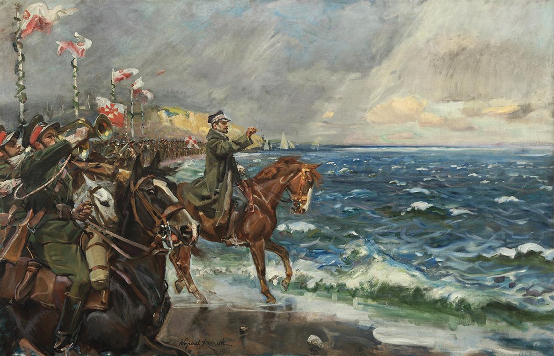 Zaślubiny Polski z Morzem by Wojciech Kossak, photo: Polish Army Museum