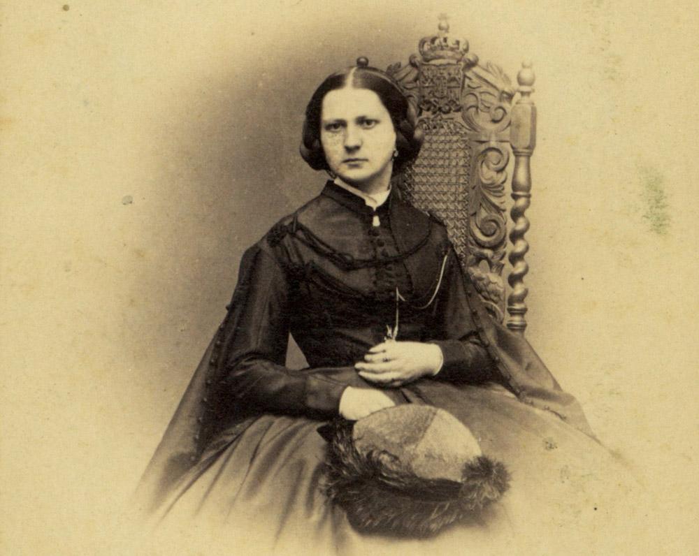 Portret Michaliny Grabowskiej, 1863, fot. Biblioteka Narodowa, CBN Polona