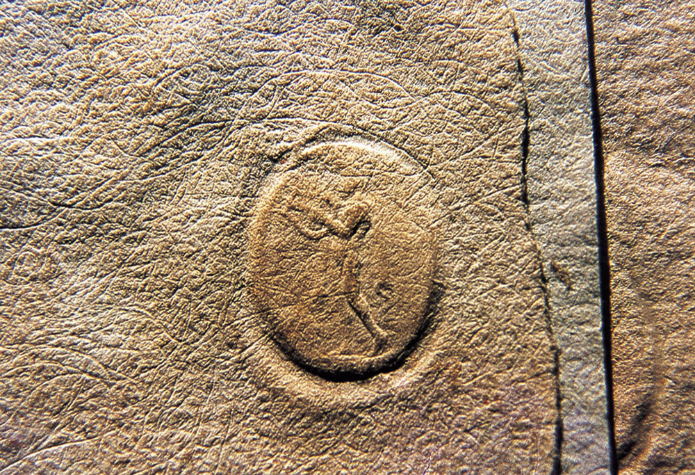 A seal with the image of Apollo on a letter dated 1536 from Nicolaus Copernicus to the Bishop Jan Dantiscus of Chełmno, found in the Collegium Maius collections of the Jagiellonian Library in Kraków, photo: Jan Morek / PAP
