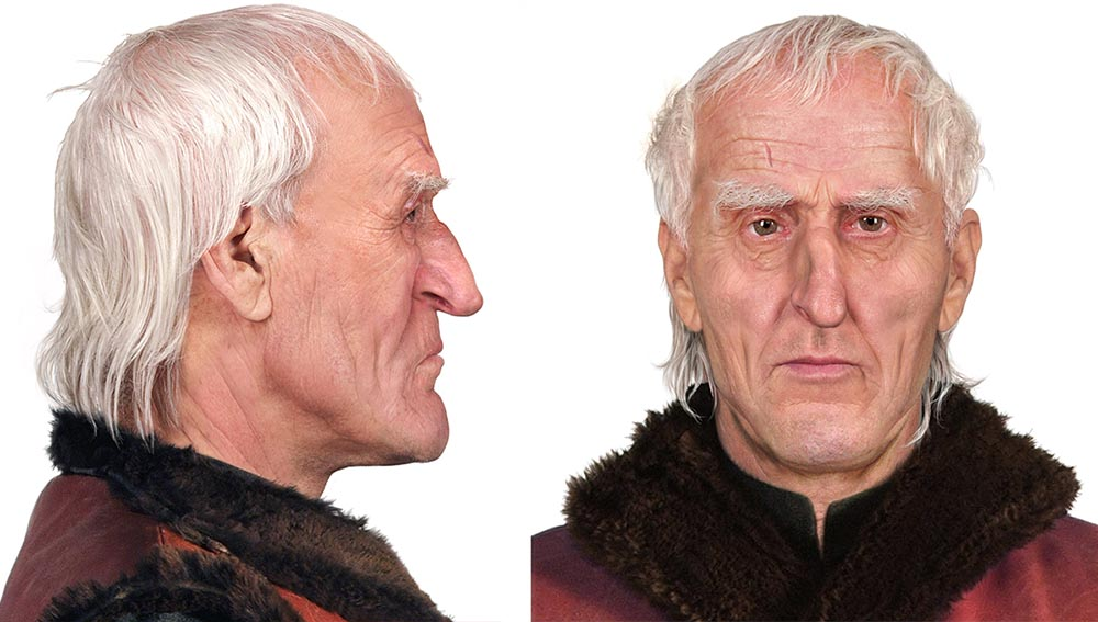 Computer facial reconstruction of Nicolaus Copernicus made by Dariusz Zajdel from Poland's Central Forensic Bureau based on a skull found in the Frombork cathedral, photo: Central Criminal Bureau of the Police Headquarters in Fromborku / East News