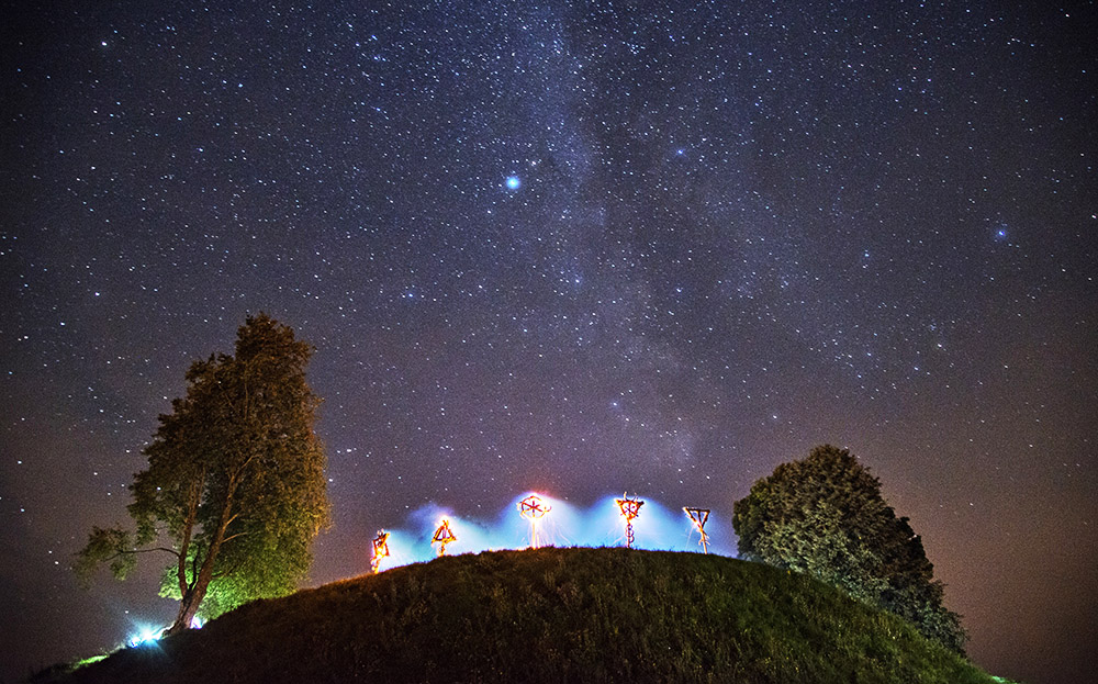 Stars in the night sky, photo: Andrzej Sidor/Forum