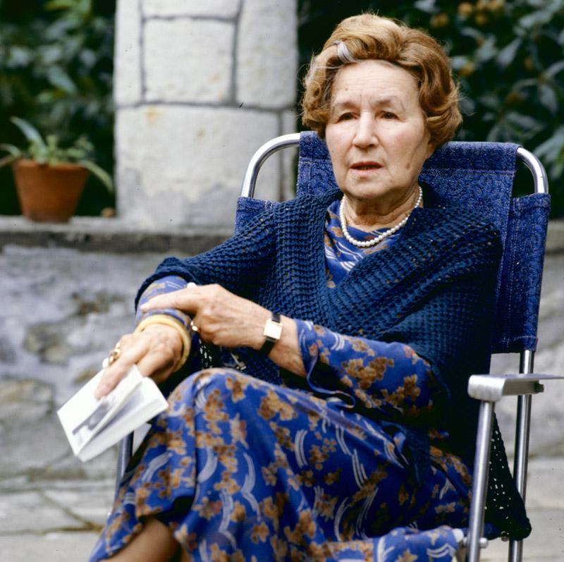Maria Kuncewiczowa w swoim domu, Kazimierz Dolny, 1979, fot. Michał Browarski / Forum