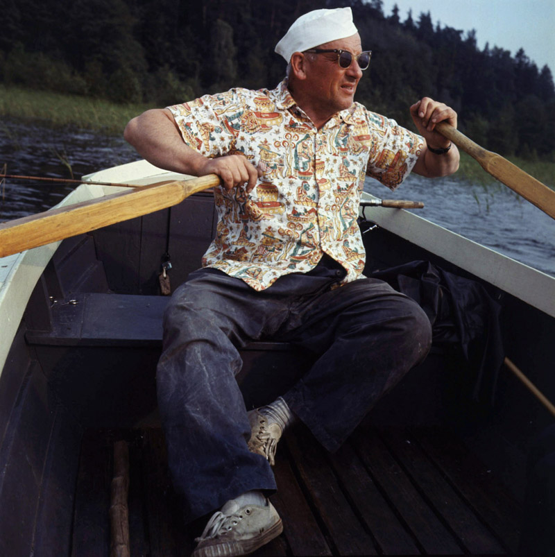 Jerzy Putrament, Jezioro Nidzkie, 1967, fot. Bogdan Łopieński / Forum