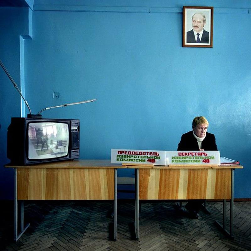 """Adam Tuchliński, fotografia z cyklu """"Sovetskaya Belorussiya"""", fot. materiły prasowe Zachęty Narodowej Galerii Sztuki"""
