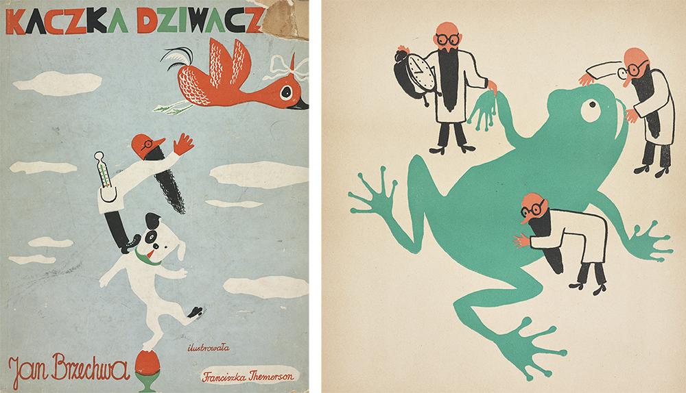Kaczka Dziwaczka (Wacky Ducky) by Jan Brzechwa, illustrated by Franciszka Themerson, 1939, Warszawa, J. Mortkowicz, 1939, photo: Biblioteka Narodowa/Polona