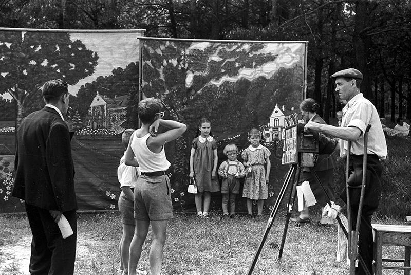 Park Bielański, festyn majowy, 1959, fot. Andrzej Marczak / Forum