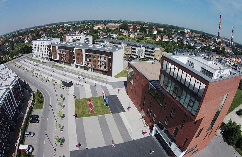 Miejski plac w Siechnicach, fot. Maćków Pracownia Projektowa Sp. z o.o