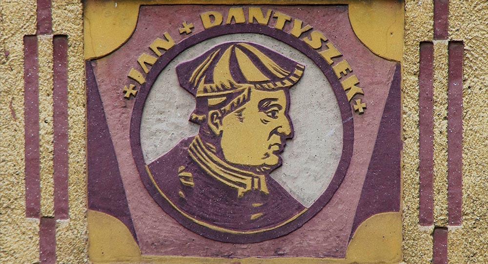 Sgraffito of Jan Dantyszek, Bishop of Warmia, by Maria Szymańska & Henryk Oszczakiewicz, Olsztyn, photo: Zofia & Marek Bazak/East News