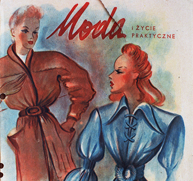 Cover of the monthly magazine Fashion and Practical Life, 1946; photo: Andrzej Wiernicki/Forum